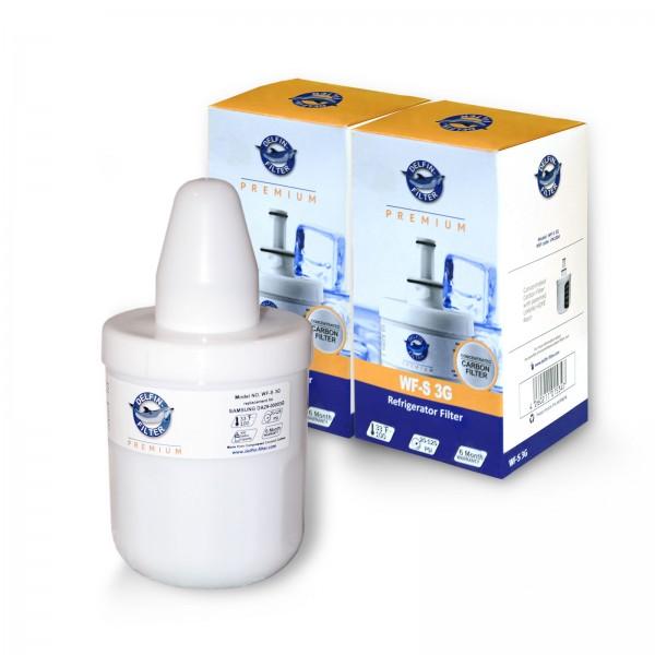 2x Samsung W6-63007 DA29-00003F Kühlschrank-Wasserfilter Delfin WF-S