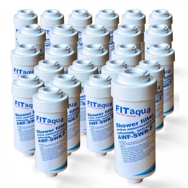 25x Duschfilter FitAqua, Wasserfilter zum Wohle Ihrer Haut AWF-SWR-P