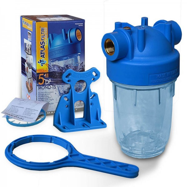 5 Zoll Wasserfilter Gehäuse Italy, Innengewinde 1/2 Zoll,
