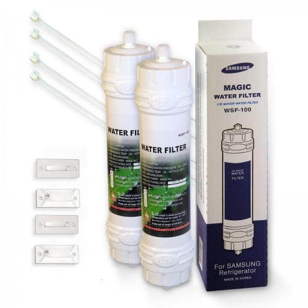 2x WSF 100 Magic Waterfilter Kühlschrankfilter für Samsung Kühlschrank