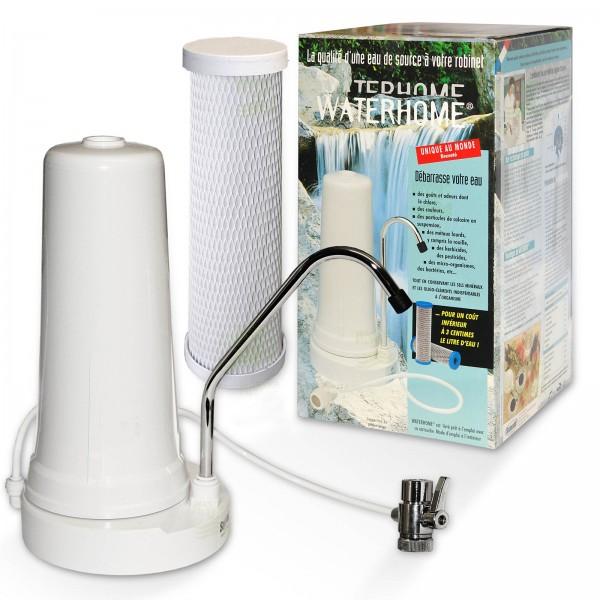 Auftischwasserfilter WATERHOME mit 0,3 Mikron Filterpatrone