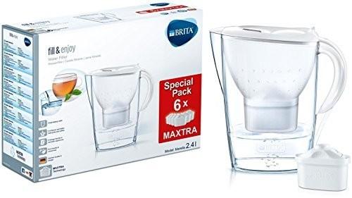BRITA Marella Wasserfilter + 6 Maxtra Kartuschen