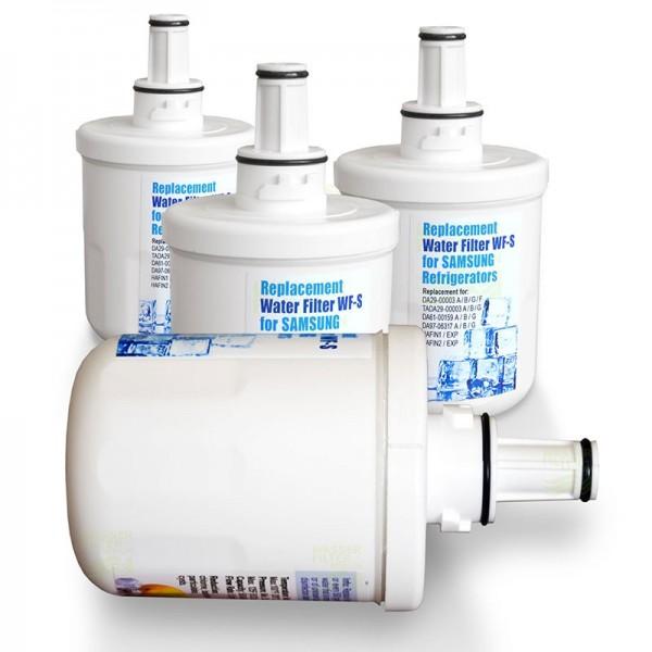 4x WF-S 3B Kühlschrankfilter, kompatibel mit DA29-00003B, A