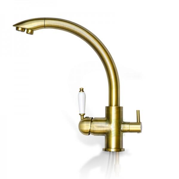 Design-Drei-Wege-Wasserhahn Venedig, 3-Wege-Wasserhahn Antik