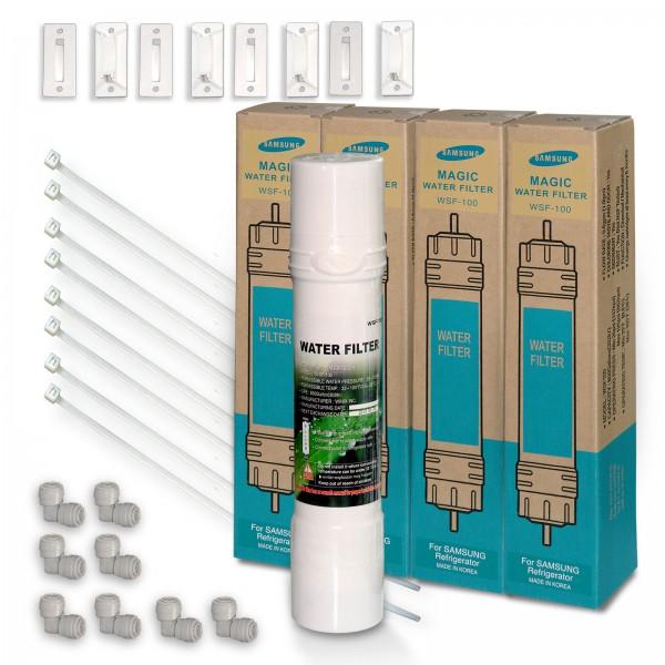 4x WSF-100 v2 Magic Waterfilter, Quickfit, f. Samsung Kühlschrank