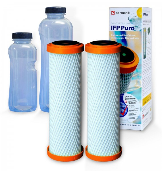 2x IFP Puro, Carbonit Monoblock, 2 Gratis Trinkflaschen
