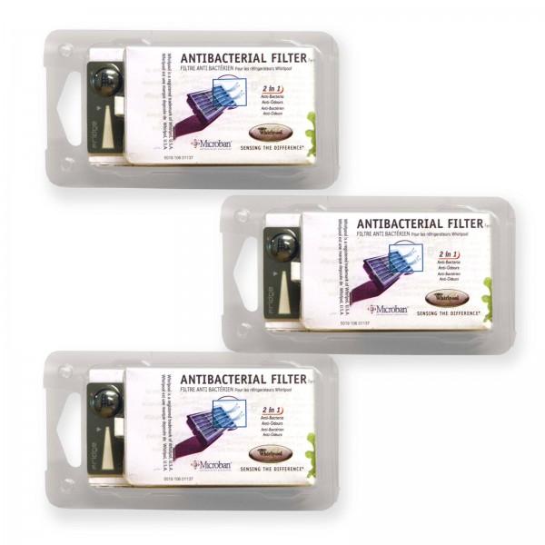 3x Luftfilter Whirlpool ANT001 481248048172 Hygiene-Filter