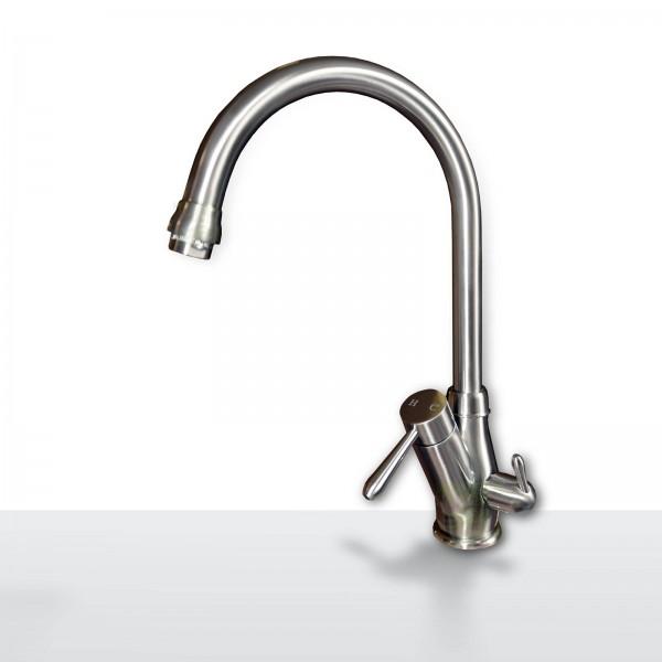 Design-Drei-Wege-Wasserhahn Pisa, 3-Wege-Wasserhahn, Edelstahloptik