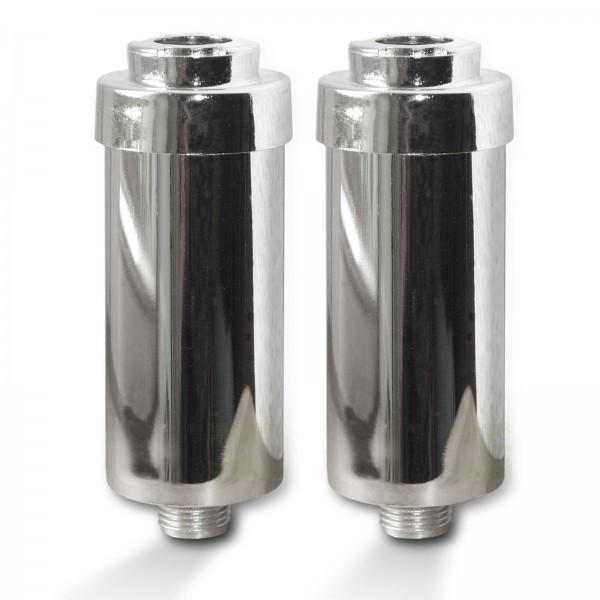 2x Duschfilter FitAqua chrom Wasserfilter zum Wohle Ihrer Haut, BPA-frei