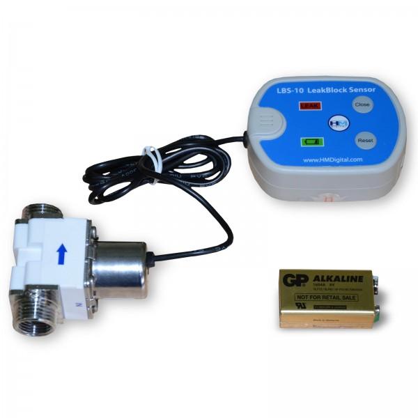 """elektronischer Wasserstopp, Schutzsystem, Anschluss 2x1/2""""AG+2x3/8""""IG"""