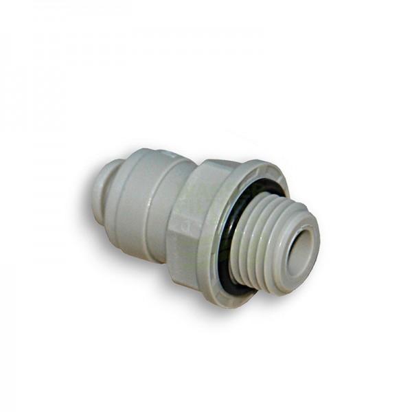 "selbstdichtender Adapter Kühlschrankfilter, AG 1/4"" x 1/4"" Schlauch nicht montiert"