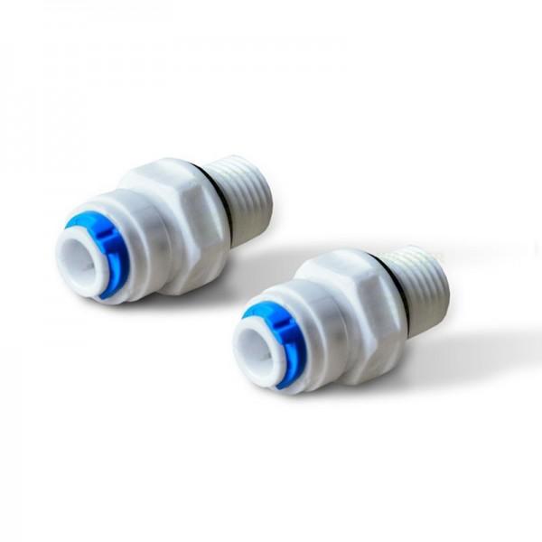 """selbstdicht. Adapter Kühlschr.-filter, AG1/4""""x1/4"""" Schlauch, mit SClip"""