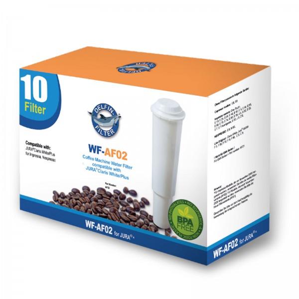10x Jura Claris Plus/ White 60209 kompatible Wasserfilter, für Jura Impressa