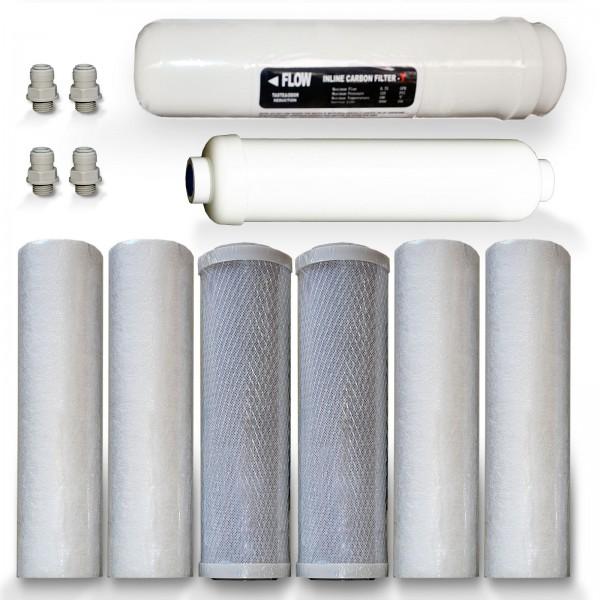 Ersatzfilterset 2-M, für 600 GPD Umkehrosmose, Mineralien