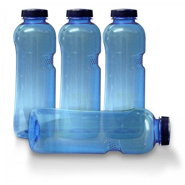 4xTrinkflasche 1Ltr., frei von Weichmachern und Bisphenol A