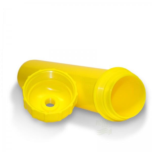 """Leerkartusche 2"""" (gelb) Inline, befüllbar mit verschiedensten Medien"""