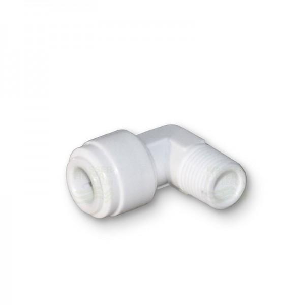 """Quickverschluss, Winkel 6,4mm (3/8"""" Schlauch x 1/4"""" AG)"""
