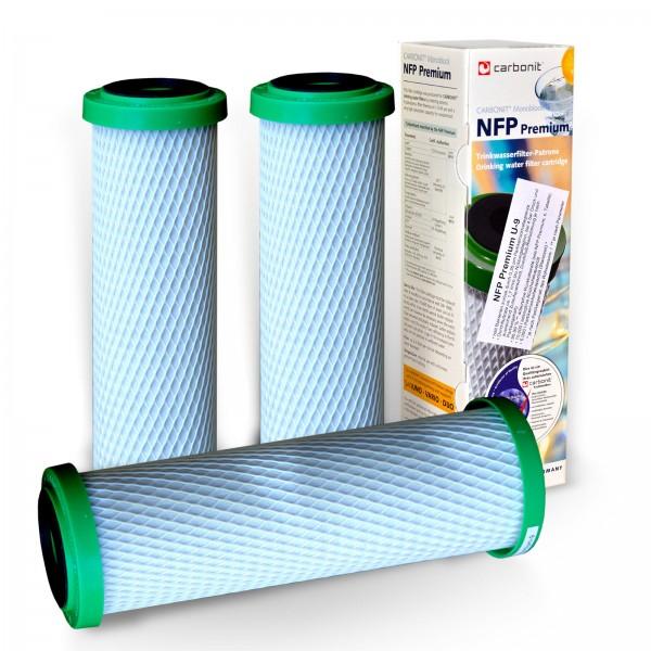 3x Carbonit Aktivkohle NFP Premium U-9 (Monoblock 0,35 Mikron)