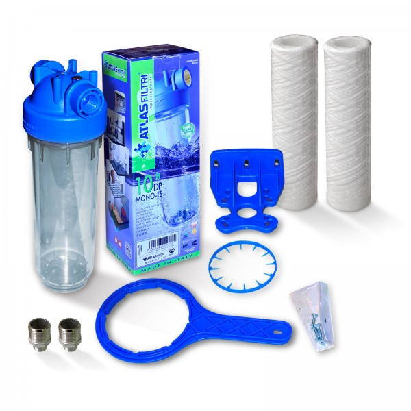 """10 inch water filter housing with 1/2 """"plastic thread, Italy"""