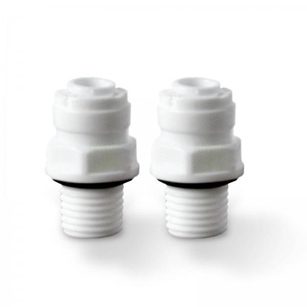selbstdichtendes Adapterpaar für Kühlschrankfilter, Schnellverschlüsse