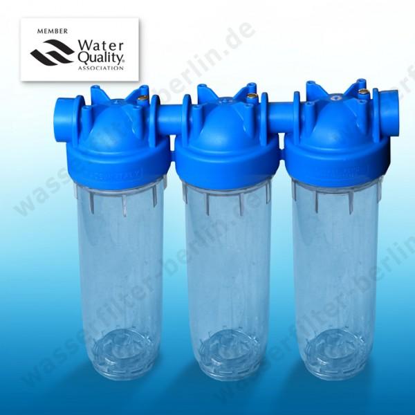 25,4cm/10 Zoll doppeltes Wasserfilter Gehäuse EKO