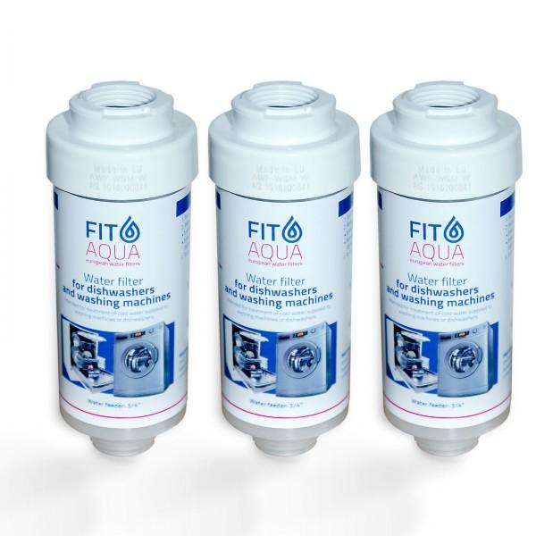 3x FitAqua Wasserfilter für Waschmaschine, Spülmaschine