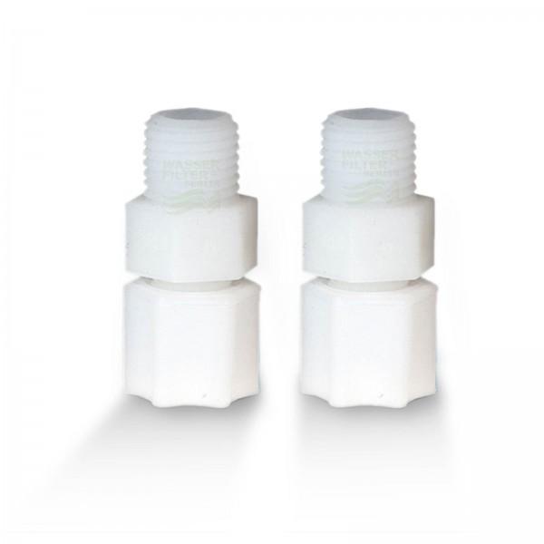 Adapterpaar für Kühlschrankfilter, Jaco-Schraubverschlüsse