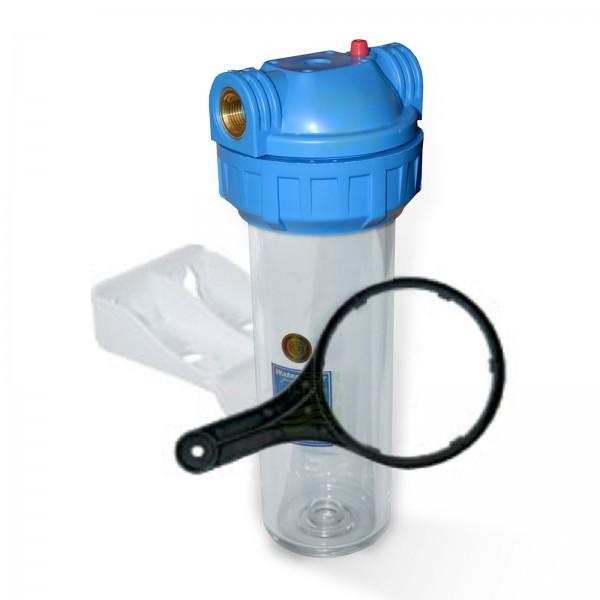 "25,4cm/ 10 Zoll Wasserfiltergehäuse IG Messing 1/2"" (Aquafilter)"