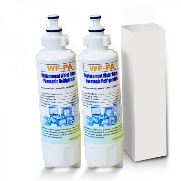 2 pcs WF-PA, compatible with Panasonic CNRBH-125950, 257760 CNRAH-water filters for side-by-side refrigerators Panasonic