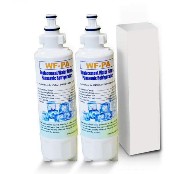2x Panasonic Kühlschrankfilter WF-PA kompatibel mit CNRBH-125950, CNRAH-257760, EFF-6032B