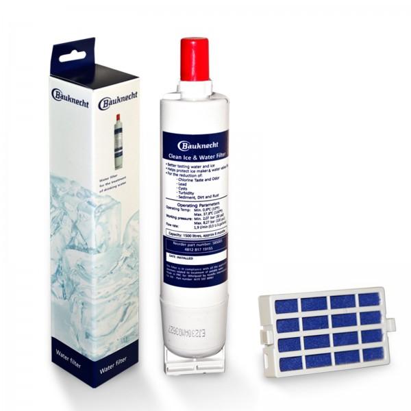 SBS003 Wasserfilter für Bauknecht Kühlschrank + Hygienefilter HYG001