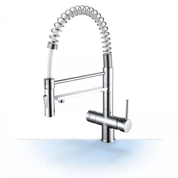 Design-Drei-Wege-Wasserhahn Garda mit Handbrause, 3-Wege-Wasserhahn