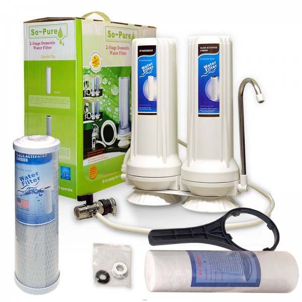 Double Countertop Filters, SoPure 2-Stage
