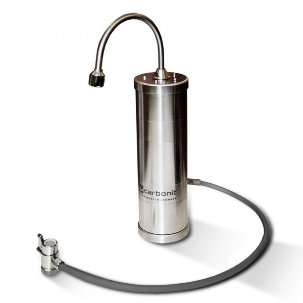 Design stainless steel SanUno Inox F water filter SanUno