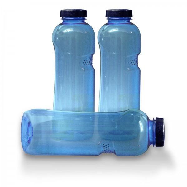 3x Trinkflasche 1 Ltr., frei von Weichmachern und Bisphenol A