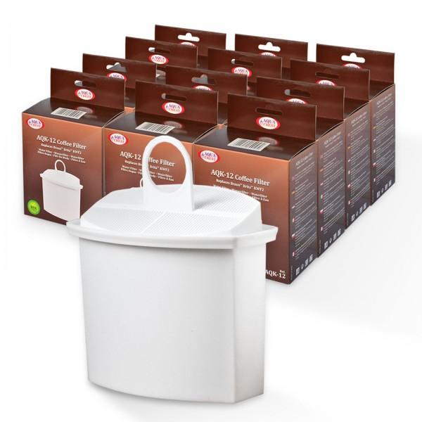 12x Wasserfilter Brita KWF2 kompatibel, für Braun Kaffeemaschinen