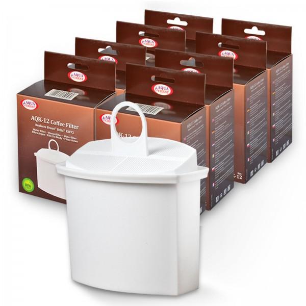 8x Wasserfilter Brita KWF2 kompatibel, für Braun Kaffeemaschinen