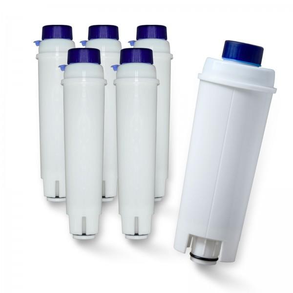 6x DeLonghi DLS C002 SER3017 5513292811 kompatibel, Delfin-Filter