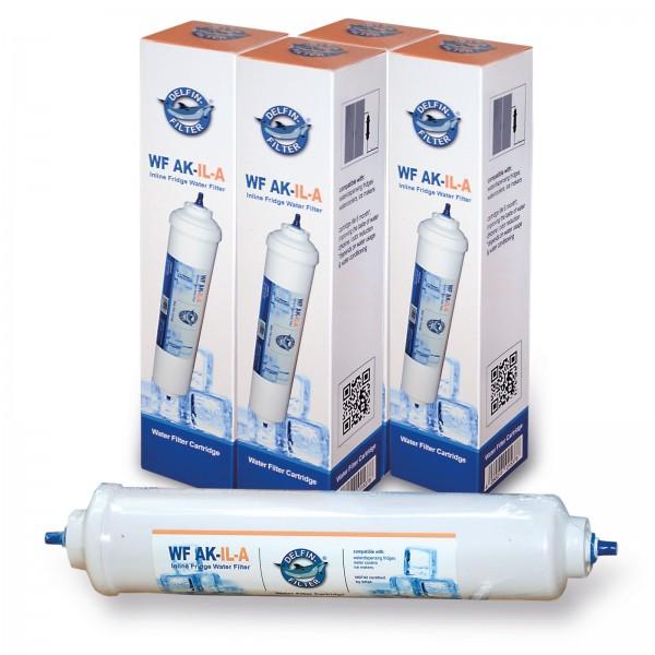 4x Delfin Universal-Kühlschrankfilter für Side by Side Kühlschränke