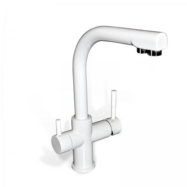 Design-Drei-Wege-Wasserhahn Verona, white