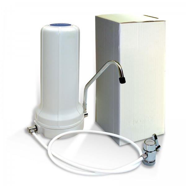 Auftisch Wasserfilter WStelle montiert, Aufkleber, o. Filterpatrone