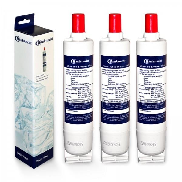3x SBS003 original Bauknecht Wasserfilter für Bauknecht Kühlschrank