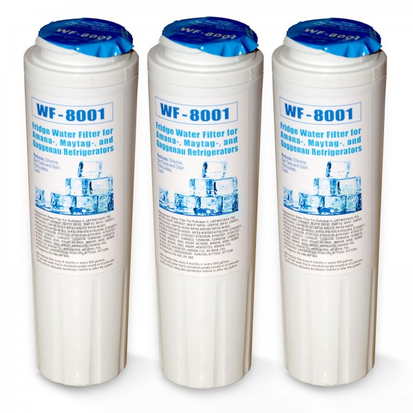 3x WF-8001 Wasserfilter, kompatibel Maytag UKF8001 Kühlschrankfilter