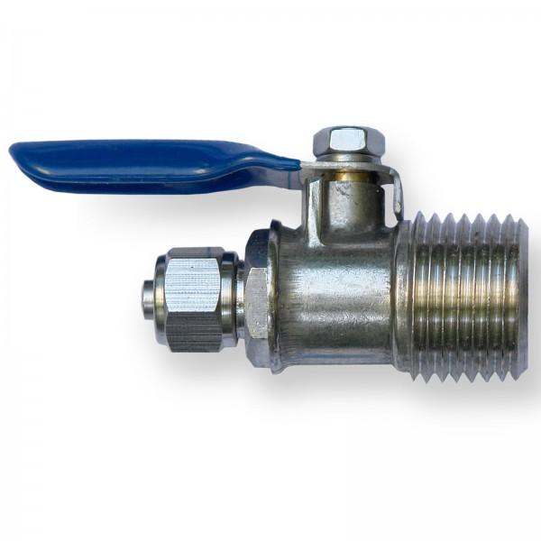 Kugelhahn für Wasseranschluss Umkehrosmose 1/2 AG x 1/4 Schlauch