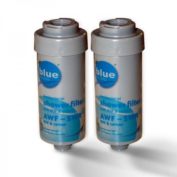 2x Duschfilter Bluefilter, Wasserfilter zum Wohle Ihrer Haut