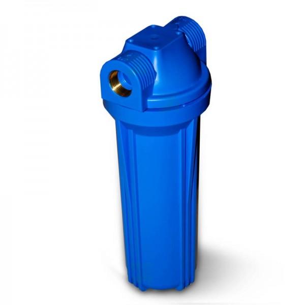 "25,4cm/10"" Wasserfilter Gehäuse blau/blau ohne Ventil, 3/4"" IG Messing"