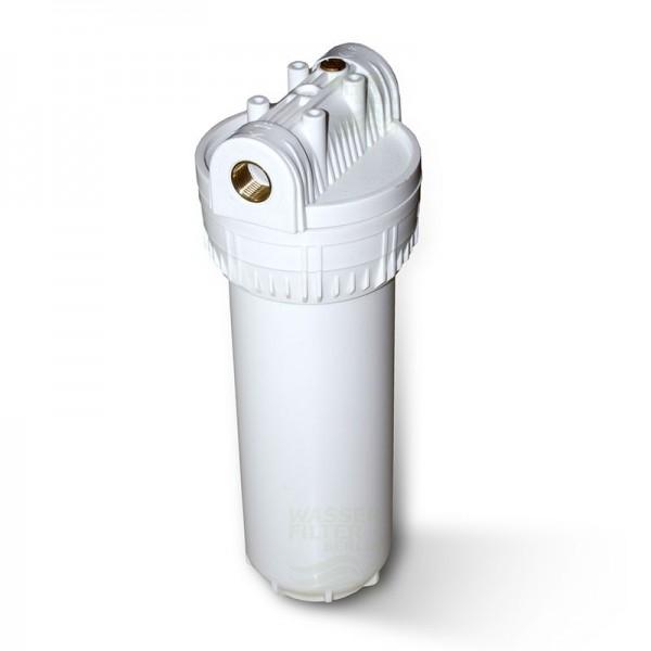 """10 Zoll Wasserfiltergehäuse weiss, 1/2"""" 3 tlg."""
